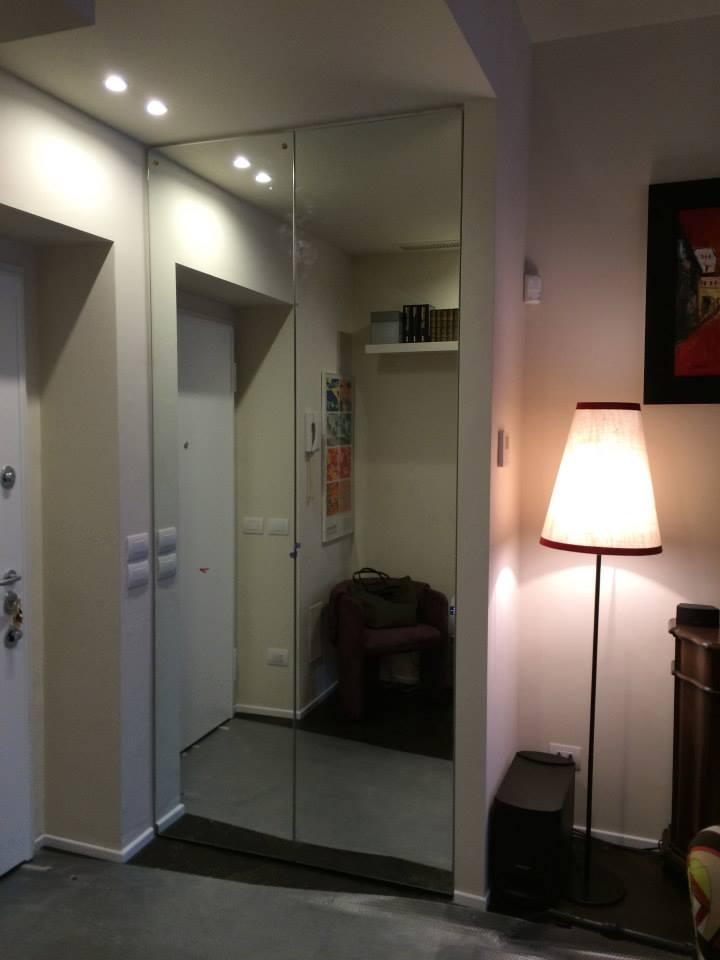 Cabina armadio con porta scorrevole wood design milano - Porte scorrevoli per cabina armadio ...