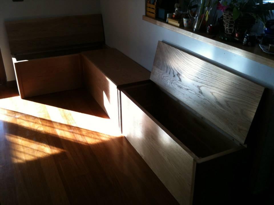 Cassapanca in massello di rovere wood design milano for Wood design milano