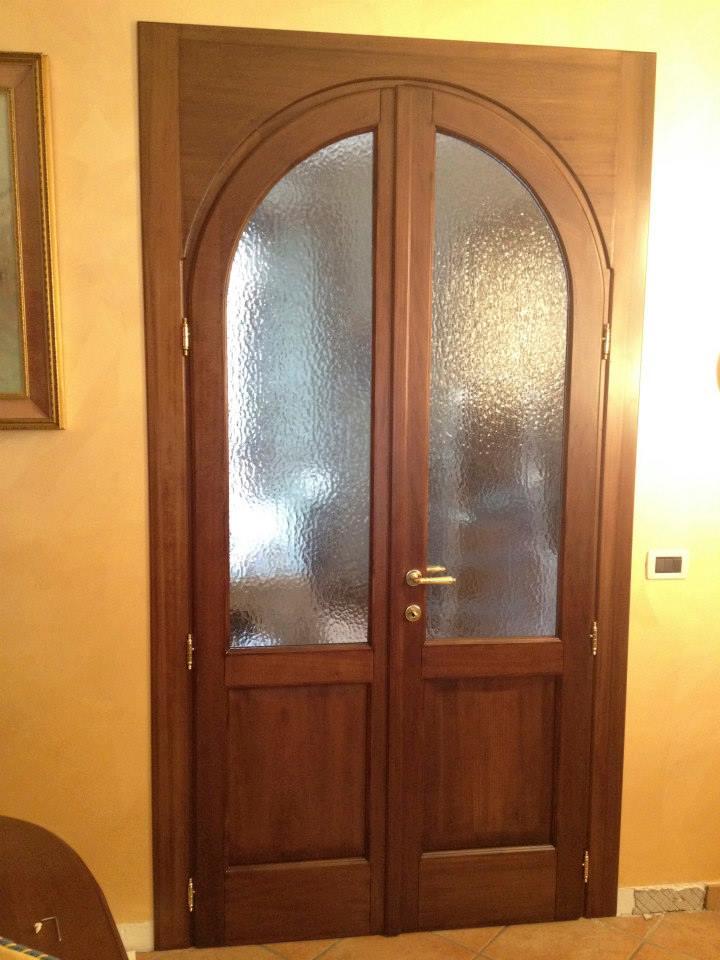 Porta ad arco in massello di tulipier wood design milano - Porte ad arco ...