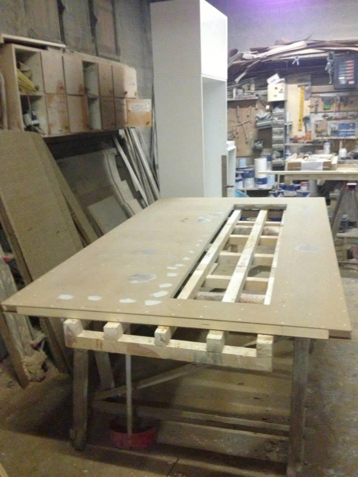 Porta scorrevole esterna laccata bianca wood design milano for Wood design milano