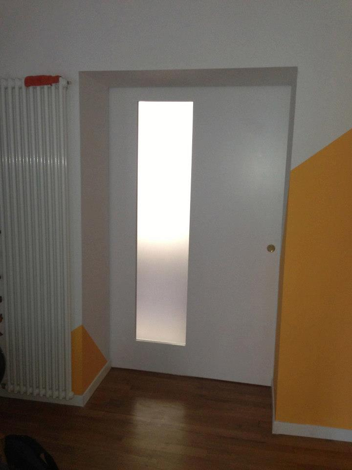 Porta Scorrevole Esterna Laccata Bianca - Wood Design Milano
